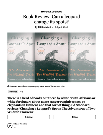 Changing A Leopards Spots Book Review